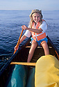 CC98167-70...WASHINGTON - Young paddler on the Puget Sound, also known as the Salish Sea.( MR#D2)
