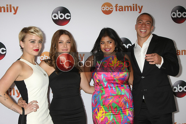 Jordan Hinson, Paige Spara, Punam Patel, Murray<br /> at the ABC TCA Summer Press Tour 2015 Party, Beverly Hilton Hotel, Beverly Hills, CA 08-04-15<br /> David Edwards/DailyCeleb.com 818-249-4998