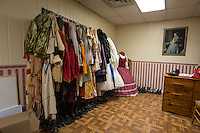 NWA Democrat-Gazette/ANTHONY REYES &bull; @NWATONYR<br /> The costume shop inside the Elm Springs Historical Society Monday, March 21, 2016 inside their 100-year-old building. Exhibits include colonial period, ozark life, costumes and civil war pieces. Across the street from the building is land that will become a park where they have evidence thousands of civil war troops once camped.