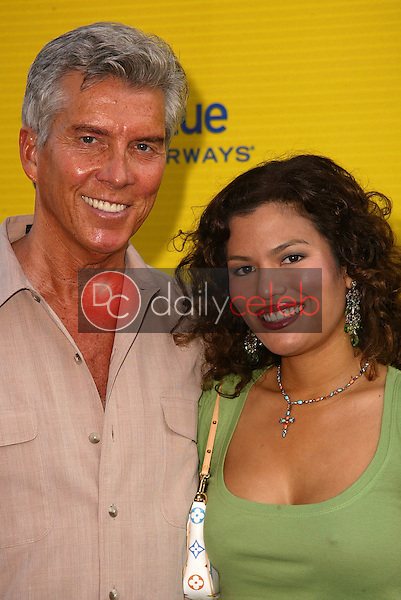 Michael Buffer and Christina Prado<br /> at the launch of Jet Blue out of Burbank and 25th anniversary screening of &quot;Airplane&quot; at Warner Bros. Studios, Burbank, CA 06-13-05<br /> David Edwards/DailyCeleb.Com 818-249-4998