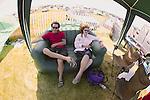 Relaxing Under Tent