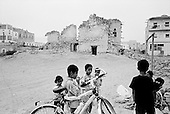 Salalah, Oman.July 2001..Children play in the city center.