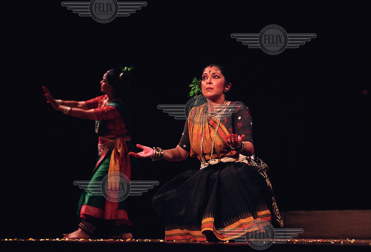 Classical dancers perform a piece by the Nobel Prize winning Bengali poet Rabindranath Tagore.
