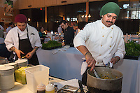 Chefs and cooks working away behind the scenes at FoodShare Toronto's Recipe for Change, February 28,  2013
