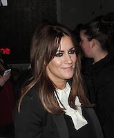 Caroline Flack spotted arriving at Somerset House London on 15 February for the PPQ event which was part of London Fashion Week  LFW  Autumn Winter 2013 Show. Paparazzi Photos