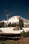 Ski lift on Mt Hood near Timberline lodge in the summer