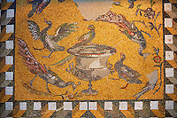 Birds around a  Daphne vase. 1st to 3rd century SD Roman Mosaic from Antioche, Turkey. Louvre Museum, Paris