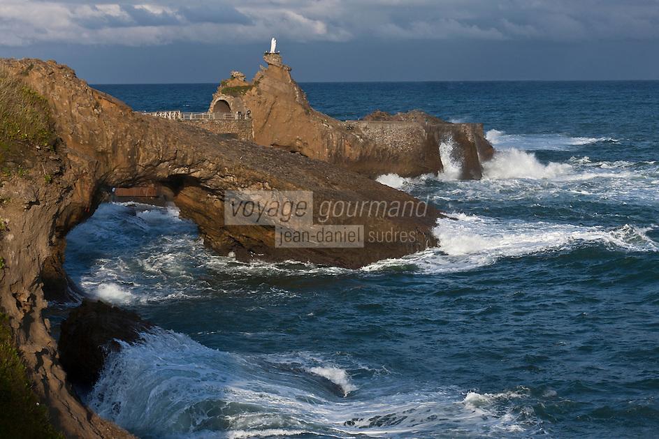 Europe/France/Aquitaine/64/Pyrénées-Atlantiques/Pays-Basque/Biarritz: Le Rocher de la Vierge