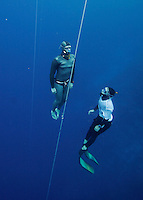 "Freediving competition ""Bizzy Blue Hole"" in Dahab, Sinai, Egypt. Steinar Schjager 47 meter CWNF"