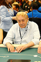 20 February 2011: NBA Lakers owner Dr. Jerry Buss gambling at the 2011 World Poker Tour WPT Celebrity Invitational at the Commerce Casino in Los Angeles, CA.