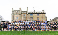 Bath Rugby players, coaches and support staff pose for a portrait at a Bath Rugby photocall. Bath Rugby Media Day on December 1, 2015 at Farleigh House in Bath, England. Photo by: Rogan Thomson for Onside Images