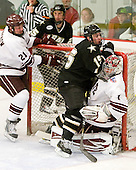 Nick Prockow (Colgate - 21) received a roughing call while Mark Dube (Army - 15) received goalie interference. - The host Colgate University Raiders defeated the Army Black Knights 3-1 in the first Cape Cod Classic at the Hyannis Youth and Community Center in Hyannis, MA.
