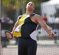 Drew Ulrick threw 58.33m in the discus throw at the Adidas Track Classic 2009 on Saturday May 16, 2009. Photo by Errol Anderson,The Sporting Image.net