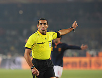 Mexican referee Marco Rodriguez. Spain won Group H following a 2-1 defeat of Chile in Pretoria's Loftus Versfeld Stadium, Friday, June 25th, at the 2010 FIFA World Cup in South Africa..