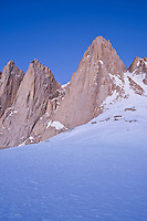 East face of Mount Whitney seen from near Iceberg lake at 12,600 feet (3850m), Sierra Nevada mountains, California