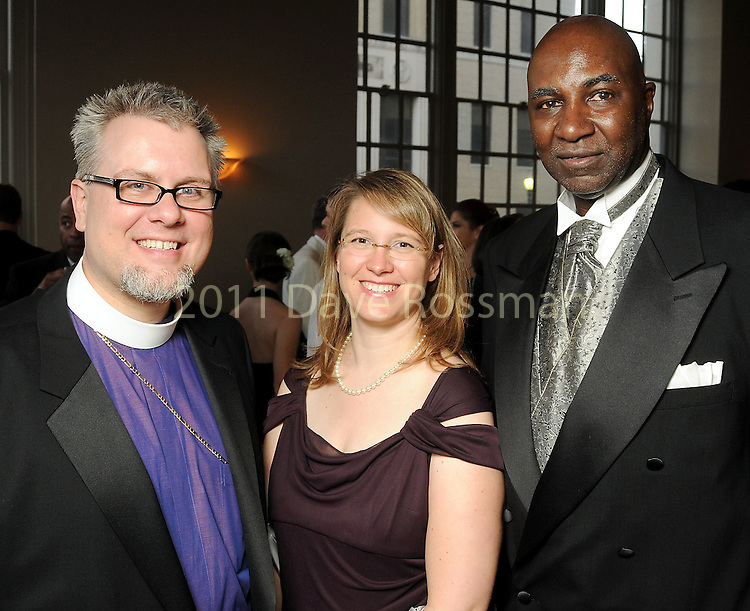 From left: Bishop Andy Doyle, JoAnne Doyle and Everett Bass at the Big Brothers Big Sisters Gala at The Corinthian Friday May 07,2010.  (Dave Rossman Photo)