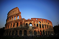 Italy, Rome, November 2, 2011..General view of the Roman Coliseum in Rome November2 , 2011. VIEWpress / Eduardo Munoz Alvarez..Rome is the capital of Italy and the country's largest and most populated city and comune, with over 2.7 million residents in 1,285.3 km2 (496.3 sq mi). The city is located in the central-western portion of the Italian Peninsula, on the Tiber River within the Lazio region of Italy.