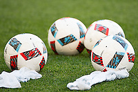 Harrison, NJ - Wednesday July 06, 2016: Balls during a friendly match between the New York Red Bulls and Club America at Red Bull Arena.