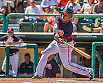 21 March 2015: Atlanta Braves outfielder Jose Constanza in action during a Split Squad Spring Training game against the Washington Nationals at Champion Stadium at the ESPN Wide World of Sports Complex in Kissimmee, Florida. The Braves defeated the Nationals 5-2 in Grapefruit League play. Mandatory Credit: Ed Wolfstein Photo *** RAW (NEF) Image File Available ***