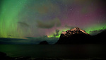 The Northern Lights in the Lofoten Islands, October 2010