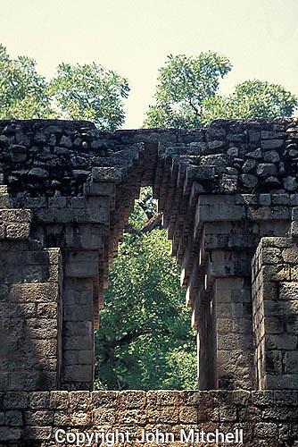Maya corbeled srch, Temple 10,  Copan, Honduras