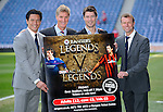 Michael Mols, Richard Gough, Brian Laudrup and Arthur Numan get together to promote the Rangers Legends v AC Milan Glorie match