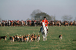 Bevoir Hunt .The Field at the start of the days sport. England.