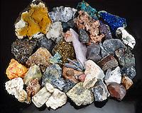 METAL ORES - Large Collection<br /> Primary Ores of Metals: Scheelite, Zircon, Chromite, Strontianite, Nickeline, Germanite, Lepidolite, Sylvite, Chalcopyrite, Bismuth Molybdenite, Beryl, Silver, Descloizite, Sphalerite, Betafite, Stibnite etc.