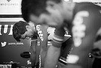 Jens Debusschere (BEL/Lotto-Soudal) &amp; Greg Henderson (NZL/Lotto-Soudal) warming up ahead of their ITT's<br /> <br /> stage 13 (ITT): Bourg-Saint-Andeol - Le Caverne de Pont (37.5km)<br /> 103rd Tour de France 2016