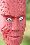 Maori Carved Face, New Zealand