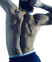 Male back detail.