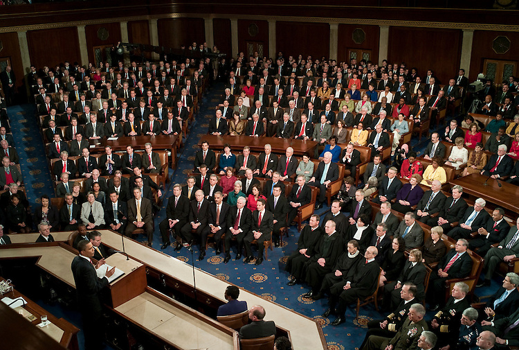 WASHINGTON, DC - Jan 27: President Barack Obama delivers his first State of the Union address to a joint session of the U.S. Congress. (Photo by Scott J. Ferrell/Congressional Quarterly)WASHINGTON, DC - Jan 27: President Barack Obama delivers his first State of the Union address to a joint session of the U.S. Congress. (Photo by Scott J. Ferrell/Congressional Quarterly)