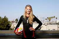 10 August 2010:  #1 Alexis Olgard MB  on the Pac-10 NCAA College Women's Volleyball team for the USC Trojans Women of Troy photographed at the Galen Center on Campus in Southern California. .Images are for Personal use only.  No Model Release, No Property Release, No Commercial 3rd Party use. .Photo Credit should read: &copy;2010ShellyCastellano.com