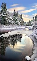 Winter Light, Truckee River