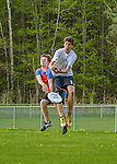 12 May 2015: The Vermont Commons School Flying Turtles Ultimate Disk Team hosts Middlebury High School at Farrell Park in South Burlington, Vermont. Mandatory Credit: Ed Wolfstein Photo *** RAW (NEF) Image File Available ***