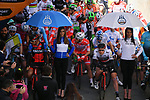 Riders line up for the start of stage 2 of the 2017 Tirreno Adriatico running 229km from Camaiore to Pomarance, Italy. 9th March 2017.<br /> Picture: La Presse/Gian Mattia D'Alberto | Cyclefile<br /> <br /> <br /> All photos usage must carry mandatory copyright credit (&copy; Cyclefile | La Presse)