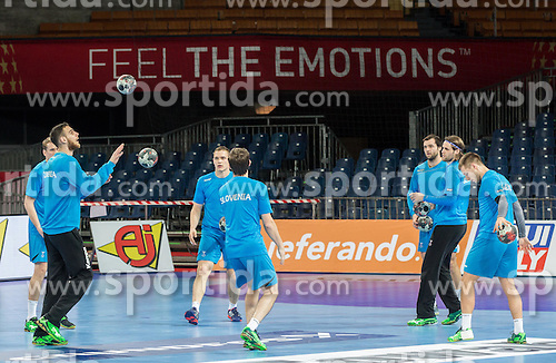 Borut Mackovsek of Slovenia during practice session of Team Slovenia on Day 1 of Men's EHF EURO 2016, on January 15, 2016 in Centennial Hall, Wroclaw, Poland. Photo by Vid Ponikvar / Sportida