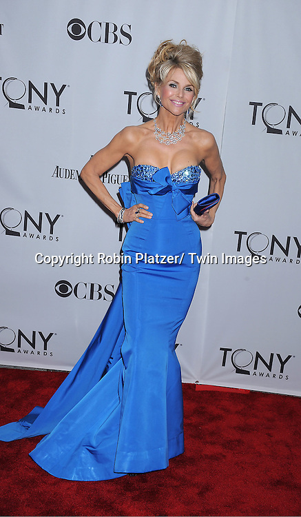 Christie Brinkley attending the 65th Annual Tony Awards at the Beacon Theatre in New York City on June 12, 2011.