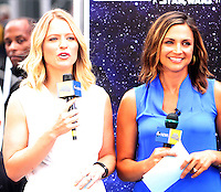 NEW YORK, NY-August 31: Sara Haines, Paula Faris at Good Morning America to talk about the   new Star Wars toy line for Rogue One in New York. August 31, 2016. Credit:RW/MediaPunch