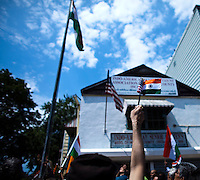 People attend the annual Indian independence day parade in New Jersey,  August 11, 2013. Photo by Eduardo Munoz Alvarez / VIEWpress.