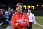 22 November 2013: Florida head coach Becky Burleigh. The University of Florida Gators played the Duke University Blue Devils at Koskinen Stadium in Durham, NC in a 2013 NCAA Division I Women's Soccer Tournament Second Round match. Duke won the game 1-0.