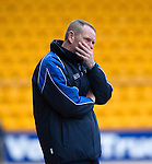 St Johnstone v Kilmarnock.....09.03.13      SPL.A dejected Kenny Shiels.Picture by Graeme Hart..Copyright Perthshire Picture Agency.Tel: 01738 623350  Mobile: 07990 594431