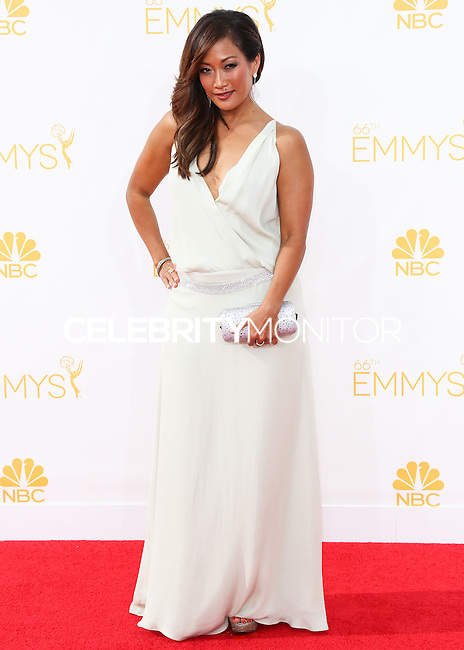 LOS ANGELES, CA, USA - AUGUST 25: Actress Carrie Ann Inaba arrives at the 66th Annual Primetime Emmy Awards held at Nokia Theatre L.A. Live on August 25, 2014 in Los Angeles, California, United States. (Photo by Celebrity Monitor)