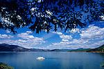 House boat on Shasta Lake near Redding Northern California USA