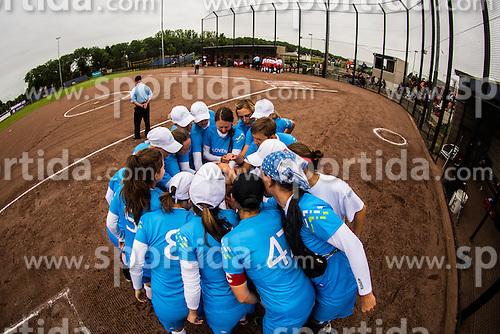 Slovenian national team during XIX European Softball Fastpitch  Championship Women, on July 20, 2015 in Rosmalen,  Netherlands. Photo by Grega Valancic / Sportida