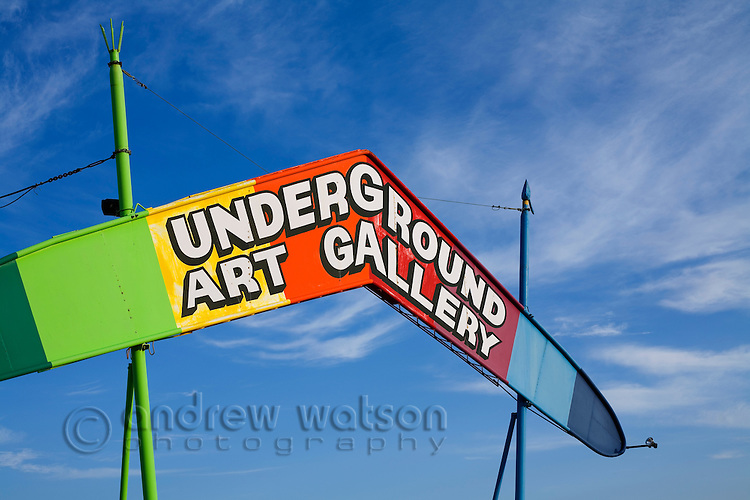 The Underground Art Gallery, in the outback town of Coober Pedy, South Australia, AUSTRALIA.