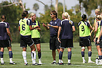 21 August 2009: Los Angeles Sol. The Los Angeles Sol held a training session at the Home Depot Center in Carson, California one day before playing Sky Blue FC in the inaugural Women's Professional Soccer Championship Game.