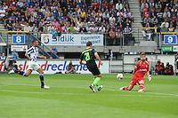 VOETBAL: HEERENVEEN: Abe Lenstra Stadion, 02-09-2012, Eredivisie 2012-2013, SC Heerenveen - Ajax, Eindstand 2-2, Erik ten Voorde (fysio), Gianni Zuiverloon (#2 | SCH), Derk Boerrigter (#21 | Ajax), Bo Kristoffer Nordfeldt (#1 | SCH) ©foto Martin de Jong