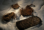 woven sandals, 13000 years old, demonstrates a complex lifestyle.