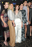 NEW YORK, NY - SEPTEMBER 27:  Miriam Shor, Hilary Duff, Molly Bernard, Debi Maza, Sutton Foster and Nico Tortorella from the cast of 'Younger'  attends the 'Younger' Season 3 and 'Impastor' Season 2 New York premiere party at Vandal on September 27, 2016 in New York City.   Photo Credit: John Palmer/MediaPunch